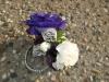 keepsake wristlet the purple lizzy, mini white carnations and lace detail