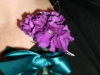 corsage: fresh mini carnation with wire leaf