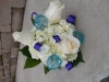 fresh bouquet with roses and hydrangeas