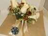 Fresh bouquet: calla lilies, off white roses, queen annes lace, buttons, hypericum berries, bling pieces, brooch on stem