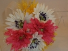 Silk: gerb bouquet with bling