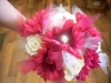 Silk gerb bouquet with bling in center of gerbs