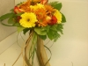 fresh, bridal bouquet, gerbs, fuji mums, greens