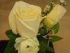fresh bout: white rose, white ranunculus, ivy