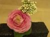 fresh pink ranunculus, ivy
