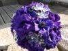 fresh bouquet of Purple anemones, purple lizzy bling pieces
