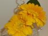 silk, yellow mini gerbs,