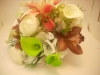 Silk bouquet with calla lilies and orchids