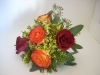 fresh, bridal bouquet, red rose, bi-color roses,