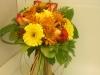 fresh, bridal bouquet, gerbs, fuji mums, greens