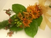 fresh throw bouquet, fox fern, daisies