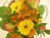 fresh, bridal bouquet, roses, gerbs, daisies