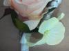 Silk spray rose, hydrangea, pearls